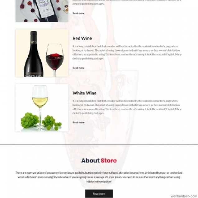 Wine product display page foreign trade website case
