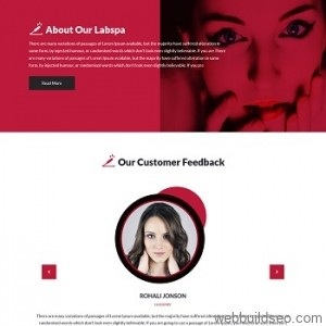 Red female beauty and skin care brand corporate website